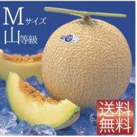 クラウンメロン Mサイズ山等級 1玉 【ネット注文限定・送料無料】